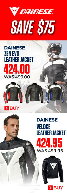 Save $75.00 on Dainese Zen Evo or Veloce Jackets